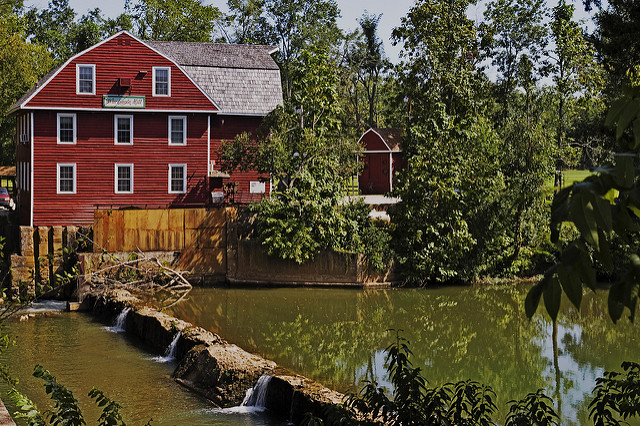 War Eagle Mill is the site of several of this weekend's craft shows.  (Photo courtesy of Flickr user Jeff Weese under Creative Commons).